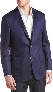 Hickey Freeman Brighton Wool & Silk-Blend Sport Coat