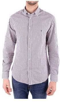 Trussardi Men's White/red Cotton Shirt.