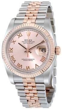 Rolex Oyster Perpetual Datejust 36 Rose Dial Stainless Steel and 18K Everose Gold Jubilee Bracelet Automatic Men's Watch