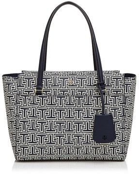 Tory Burch Parker Geo-T Small Tote - NAVY GEO/GOLD - STYLE