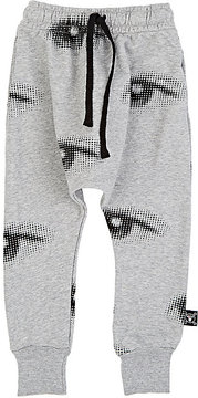 Nununu Eye-Print Cotton Sweatpants