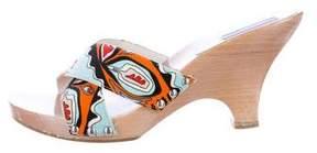 Emilio Pucci Printed Slide Sandals