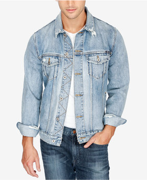 Lucky Brand Men's Lakewood Stretch Destroyed Denim Jacket