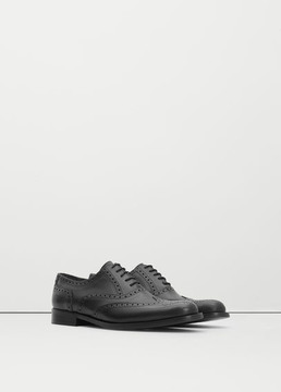 Mango Outlet Leather Oxford shoes
