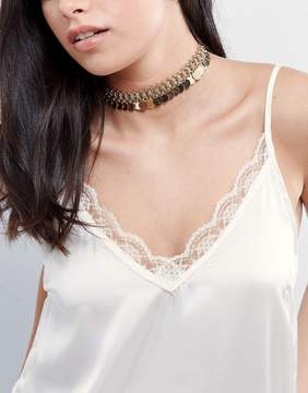 Aldo Star Coin Choker Necklace
