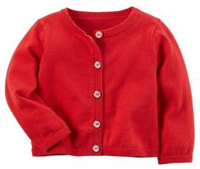 Carter's Girl Single Cardigan red