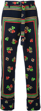 Sacai floral cropped trousers