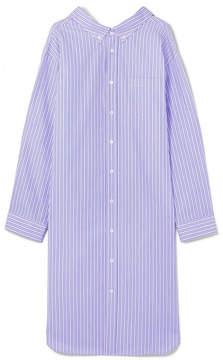 Balenciaga Oversized Striped Cotton-poplin Shirt Dress - Blue