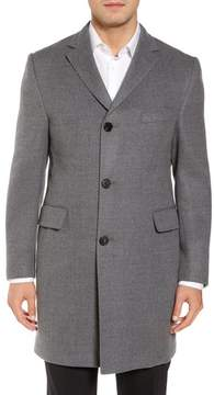 Hickey Freeman Men's Classic Fit Wool Topcoat