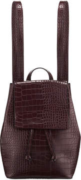 French Connection Alana Crocodile-Embossed Backpack