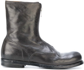 Officine Creative creased zipped ankle boots