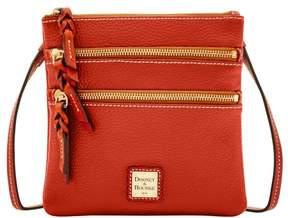 Dooney & Bourke Pebble Triple Zip Crossbody Shoulder Bag - BURNT ORANGE - STYLE
