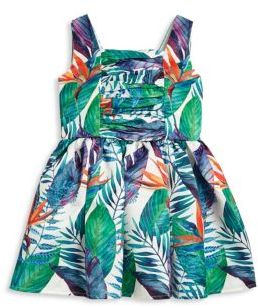 Halabaloo Toddler's & Little Girl's Jungle-Print Dress