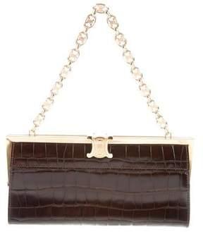 Celine Crocodile Frame Bag