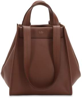 Max Mara Medium Reversible Cashmere & Leather Bag