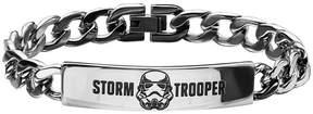 Star Wars FINE JEWELRY Mens Stainless Steel Stormtrooper ID Bracelet