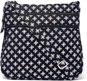 Vera Bradley Black & White Mini Concerto Triple-Zip Hipster Crossbody Bag - BLACK - STYLE