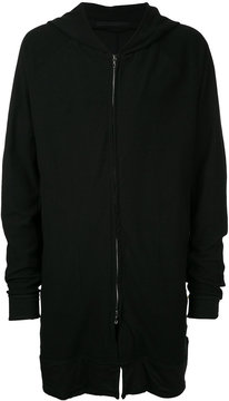 Julius long zipped hoodie