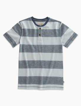 Lucky Brand Short Sleeve Striped Henley