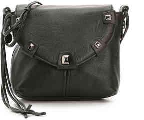 Women's Penelope Leather Crossbody Bag -Black