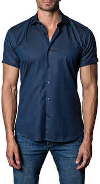 Jared Lang Woven Short Sleeve Trim Fit Shirt