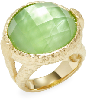 Rivka Friedman Women's 18K Gold Clad Ring with Rock Crystal & MOP