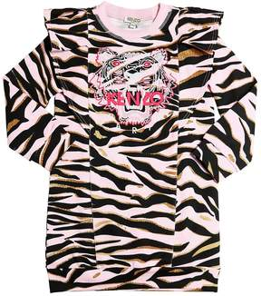 Kenzo Tiger Cotton Sweatshirt Dress
