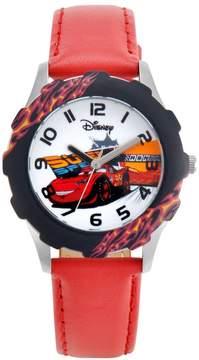 Disney Pixar Cars Lightning McQueen Juniors' Leather Watch