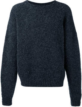 E. Tautz flocked round neck jumper