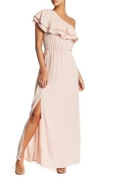 Chelsea28 One Shoulder Ruffle Dress