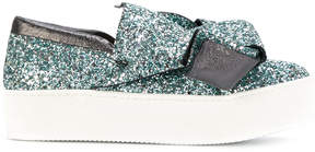 No.21 knot slip-on sneakers