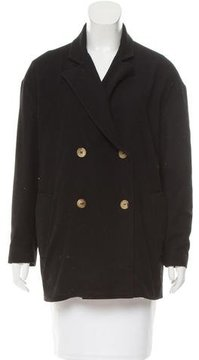 Boy By Band Of Outsiders Leather-Trimmed Wool-Blend Jacket