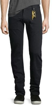 Robin's Jeans Slim-Straight Studded Flap-Pocket Jeans