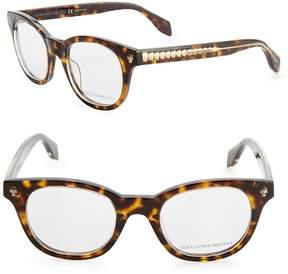 Alexander McQueen Women's 47MM Round Tortoieshell Glasses