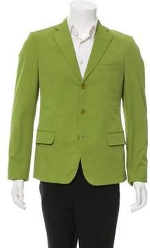 Bottega Veneta Woven Three-Button Blazer