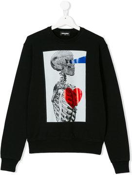 DSQUARED2 skeleton print sweatshirt