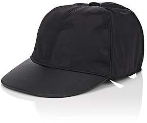 Valentino Men's Camouflage Jacquard & Leather Baseball Cap