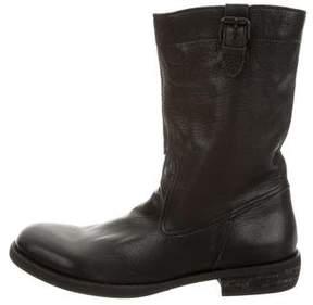 Yohji Yamamoto Leather Mid-Calf Boots w/ Tags