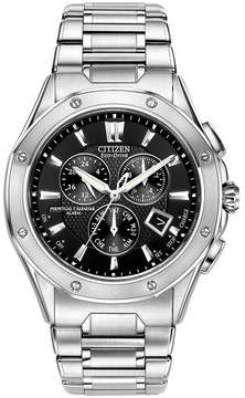 Citizen Men's Eco-Drive Signature Octavia Perpetual Calendar Chronograph Stainless Steel Bracelet Watch 42mm BL5460-51E
