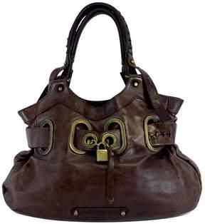 Barbara Bui Brown Leather Lock Charm Bag