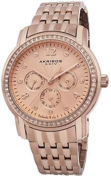Akribos XXIV Akribos Multifunction Rose Dial Rose Gold-tone Ladies Watch AK626RG