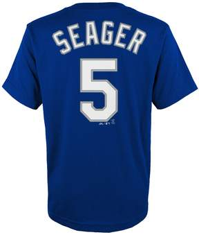 Majestic Boys 4-18 Los Angeles Dodgers Corey Seager Player Name and Number Tee