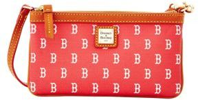 Dooney & Bourke Boston Red Sox Coated Cotton Large Slim Wristlet - RED - STYLE