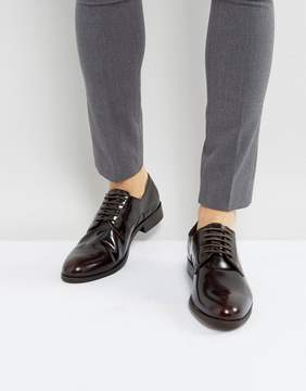 Dune Derby Shoes In Hi Shine Wine Leather