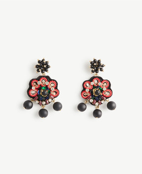 Ann Taylor Embroidered Statement Earrings