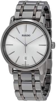 Rado DiaMaster XL Silver Dial Men's Ceramic Watch