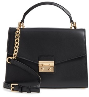 MICHAEL Michael Kors Medium Sloan Leather Satchel - Black - BLACK - STYLE