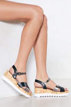 Nasty Gal Make a Difference Wedge Sandal
