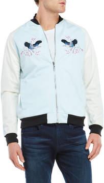 Soul Star Embroidered Bird Bomber Jacket
