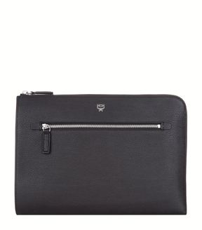 MCM Grained Leather Pouch